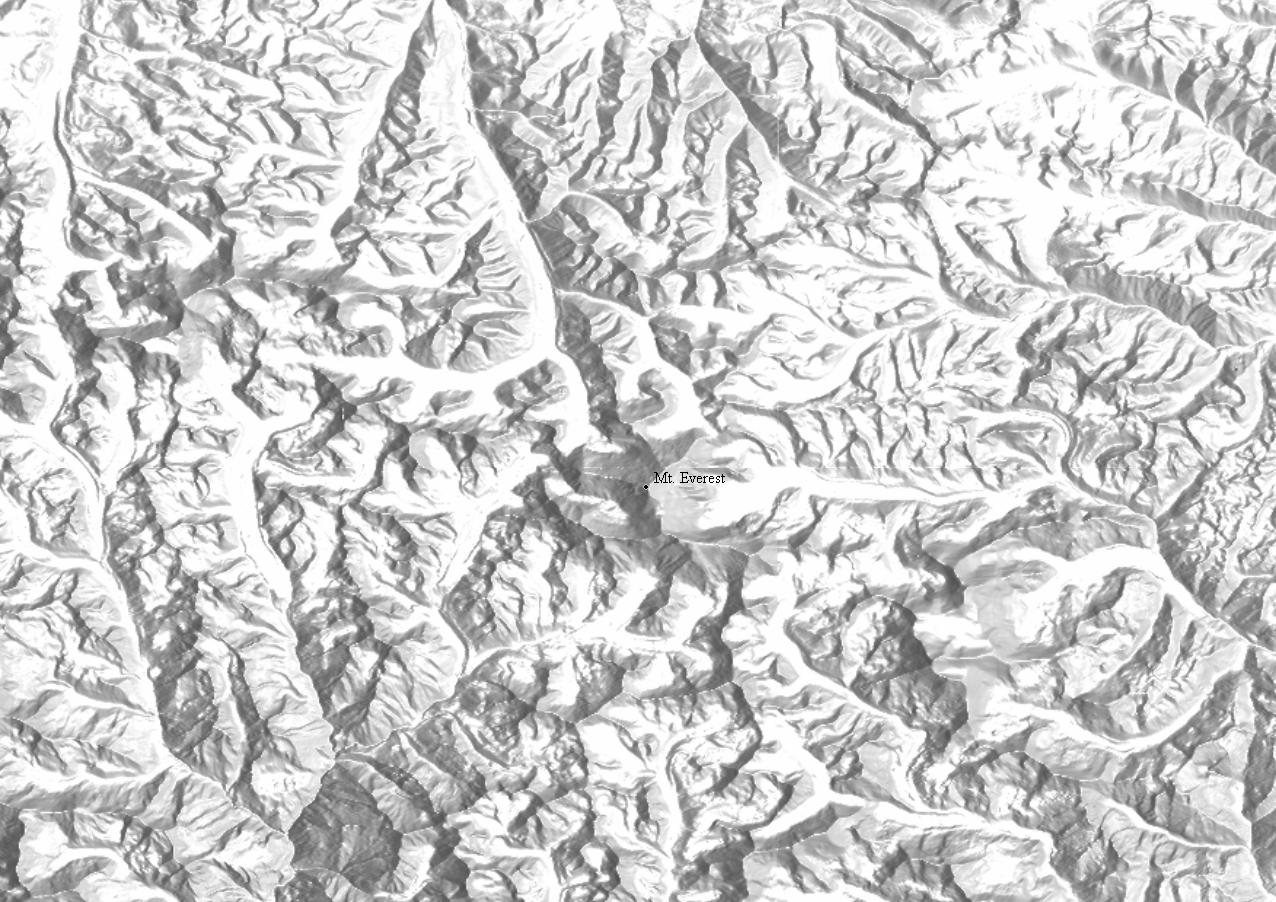 Shaded Relief Maps And Hillshading For Topo Maps And Satellite Images - Grayscale height map us