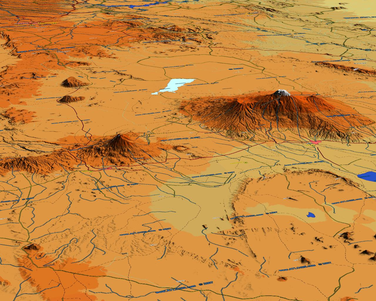 World vector map set vector data relief maps and satellite images 3d mt kilimajaro meru map vector data combined with physical relief gumiabroncs Gallery