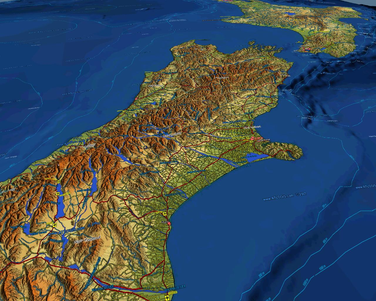 World vector map set vector data relief maps and satellite images 3d new zealand map vector data combined with physical relief map gumiabroncs Choice Image